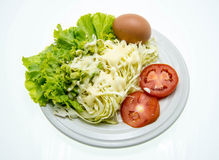 Fresh salad in a white plate. Stock Image