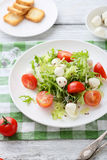 Fresh salad on white plate. Food close-up Stock Image