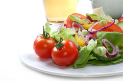 Fresh Salad With Tomatoes Royalty Free Stock Photography