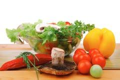Fresh salad on wood Royalty Free Stock Images