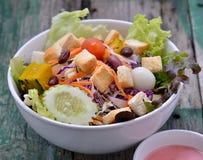 Fresh salad on woodden Stock Photo