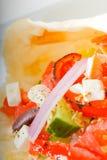 Fresh salad wrap Royalty Free Stock Images