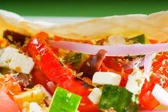 Fresh salad wrap Stock Image