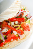 Fresh salad wrap Royalty Free Stock Image