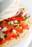 Fresh salad wrap royalty free stock image