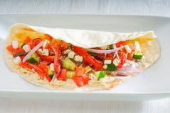 Fresh salad wrap Stock Photography