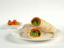 Fresh salad wrap Stock Photo