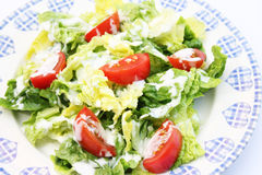 Fresh salad with yogurt Stock Photo