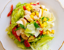 Fresh salada seen from above Stock Photo