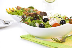 Fresh salads Stock Photos