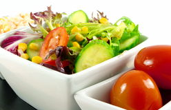 Fresh salads Stock Photo