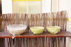 Fresh salads Stock Photo