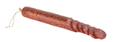 Fresh salami Stock Image