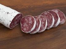 Fresh salami Royalty Free Stock Images