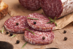 Fresh Salami Stock Photos