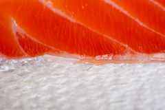 Fresh salmon. Macro background image Stock Photo