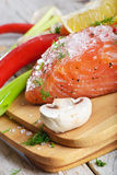 Fresh salmon Royalty Free Stock Photos