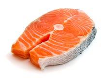 Fresh salmon. Steak on white background Stock Image