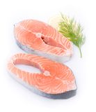 Fresh salmon. With several ingredients Royalty Free Stock Photography
