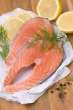 Fresh salmon. With several ingredients Stock Photo