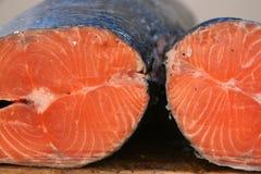 Fresh Salmon. Detail of fresh salmon fish Stock Photo