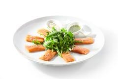 Fresh Salmon Carpaccio royalty free stock photo