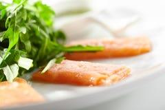 Fresh Salmon Carpaccio stock image