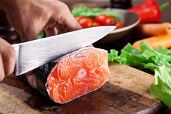Fresh salmon. stock image