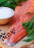 Fresh salmon filet Royalty Free Stock Image