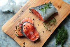 Fresh salmon filets Royalty Free Stock Image