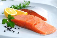 Fresh salmon fillet Royalty Free Stock Image