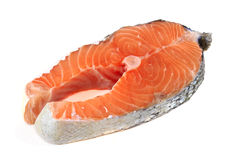 Fresh salmon fillet. In white background Royalty Free Stock Image