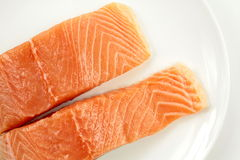 Fresh salmon fillet Stock Image