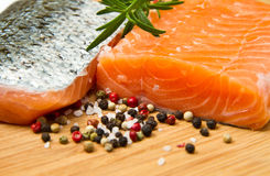 Fresh salmon fillet Stock Photos
