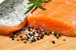 Fresh salmon fillet Stock Photos