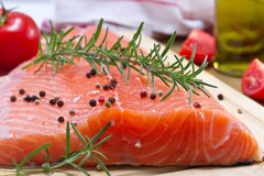 Fresh salmon fillet Royalty Free Stock Photography