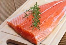 Fresh salmon fillet Stock Image
