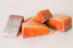 Fresh salmon fillet. See my other works in portfolio Royalty Free Stock Photography