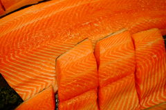 Fresh Salmon. Fillet fish meat Royalty Free Stock Images