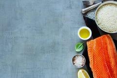 Fresh salmon fillet Royalty Free Stock Photography