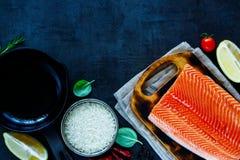 Fresh salmon fillet Stock Images