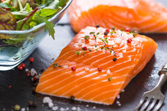 Fresh salmon fillet Stock Photo