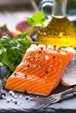 Fresh salmon fillet Royalty Free Stock Photo