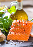 Fresh salmon fillet Stock Images
