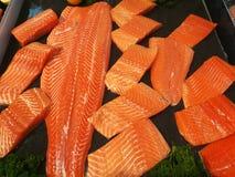 Fresh salmon fillet in supermarket. Fresh salmon fillet in the supermarket Stock Photography