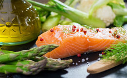 Salmon Fillet With Panang Curry Sauce Thai Style Stock Photos - Image ...