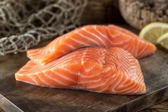 Fresh Salmon Fillets stock photos