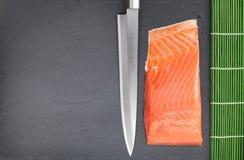 Fresh salmon fish cooking Stock Photo