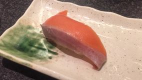 Fresh salmon fish. For lunch - Japanese cuisine stock video