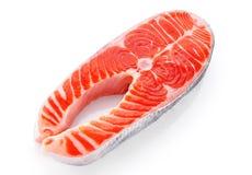 Fresh salmon isolated on white background. Close up Royalty Free Stock Image